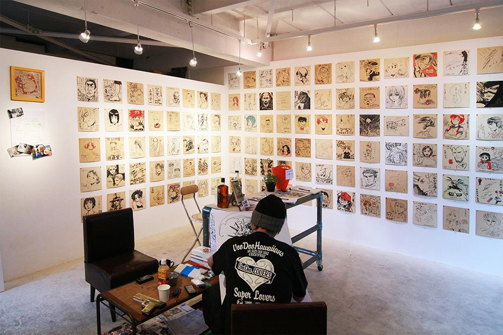 かつて阿佐ヶ谷にあった、漫画家が集まる居酒屋「ラジオ屋」を偲ぶ展覧会なども企画されました。
