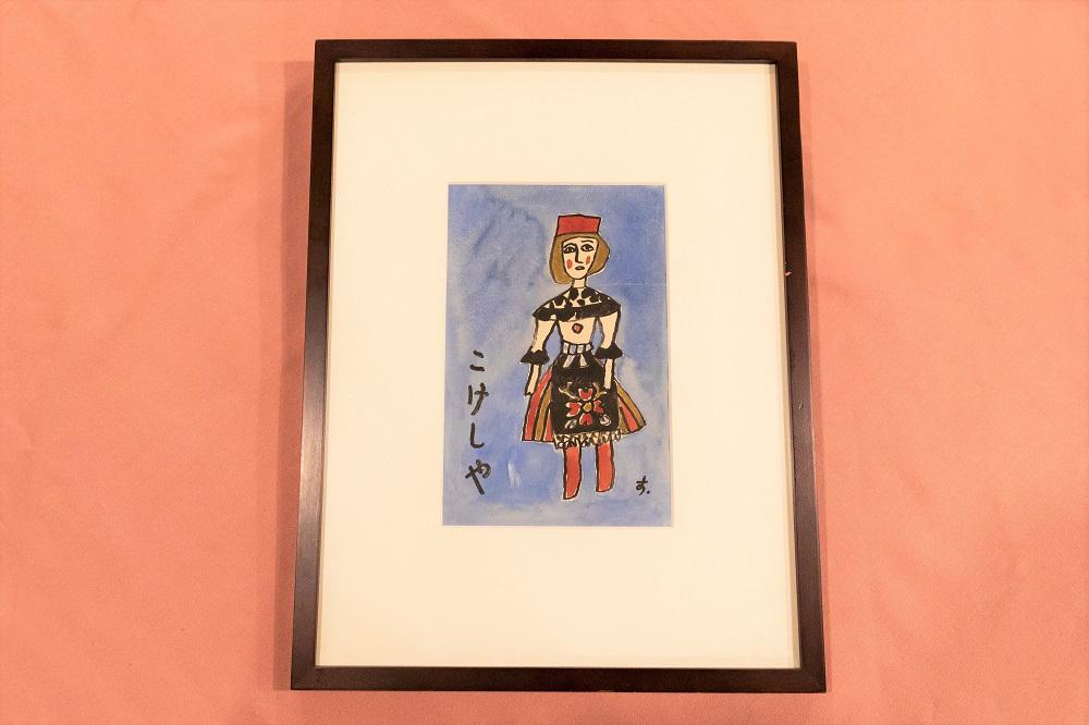 包装紙の元となった鈴木信太郎画伯の絵