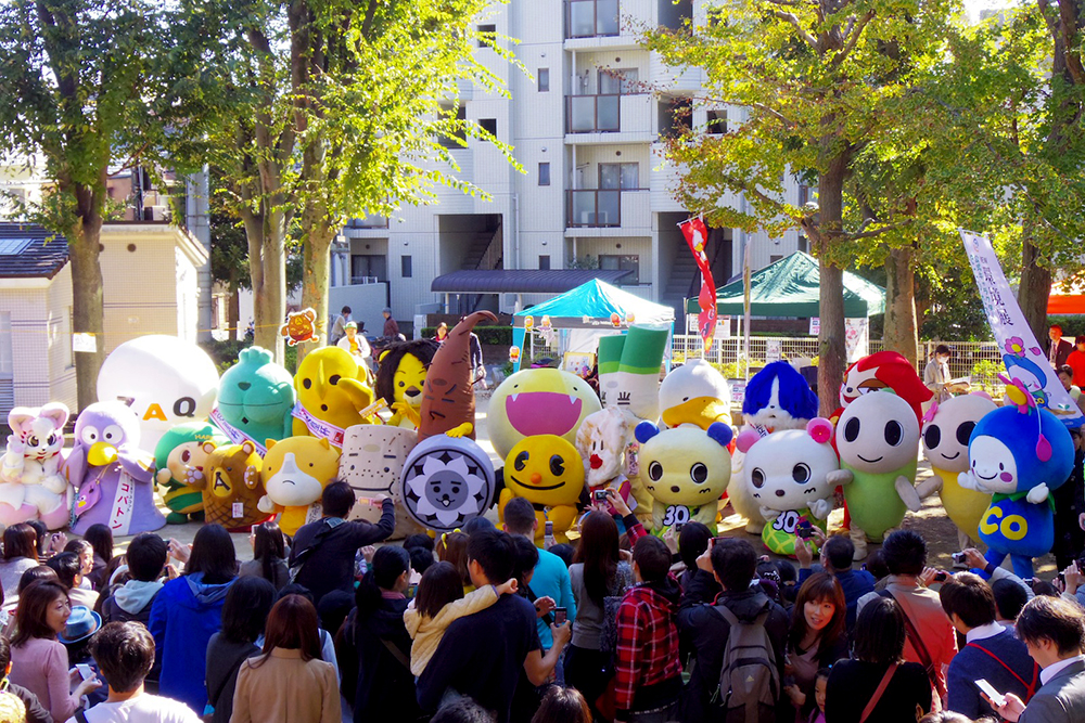 ゆるキャラまつりは「高円寺フェス」の中でも名物イベントのひとつ。