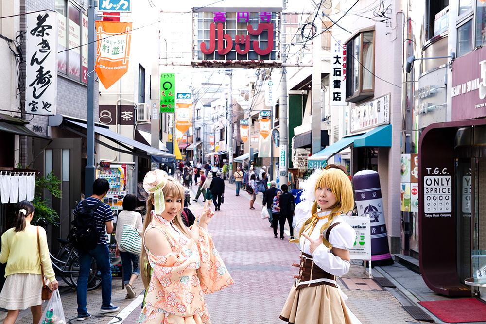 若者に人気の古着屋も多いルック商店街。