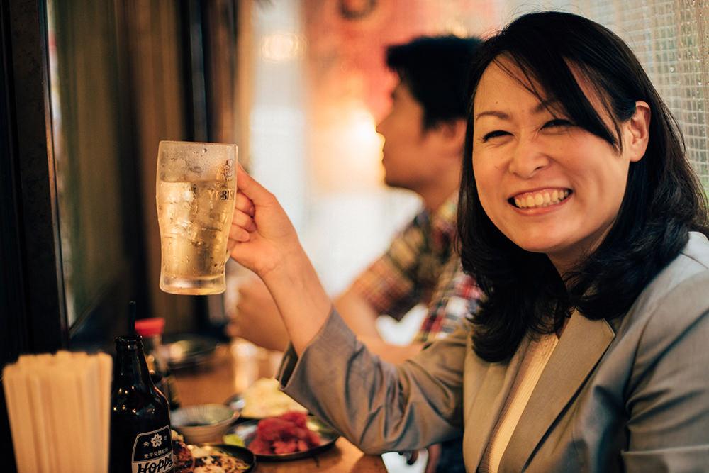 これですよ、この笑顔ですよ。倉嶋さんに飲まれるホッピーも幸せです。