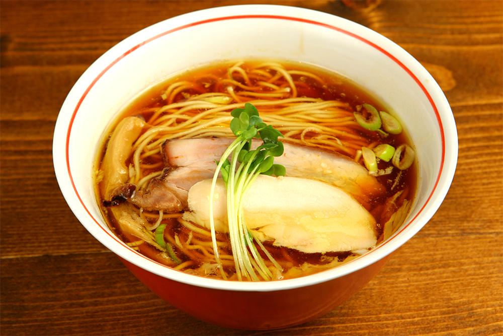 軍鶏そば(750円)