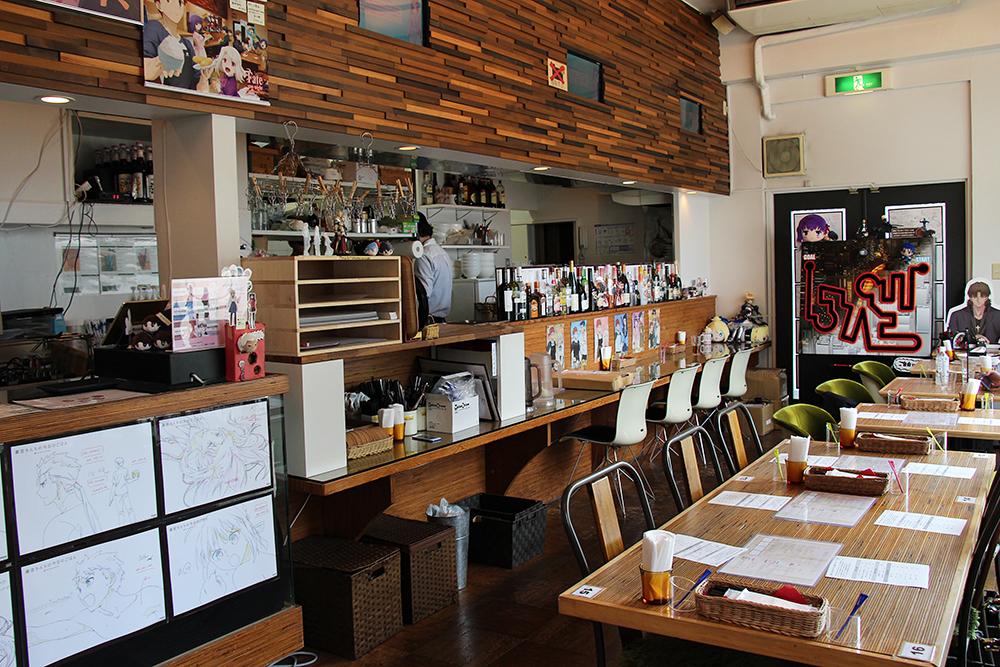 ufotable Cafe店内