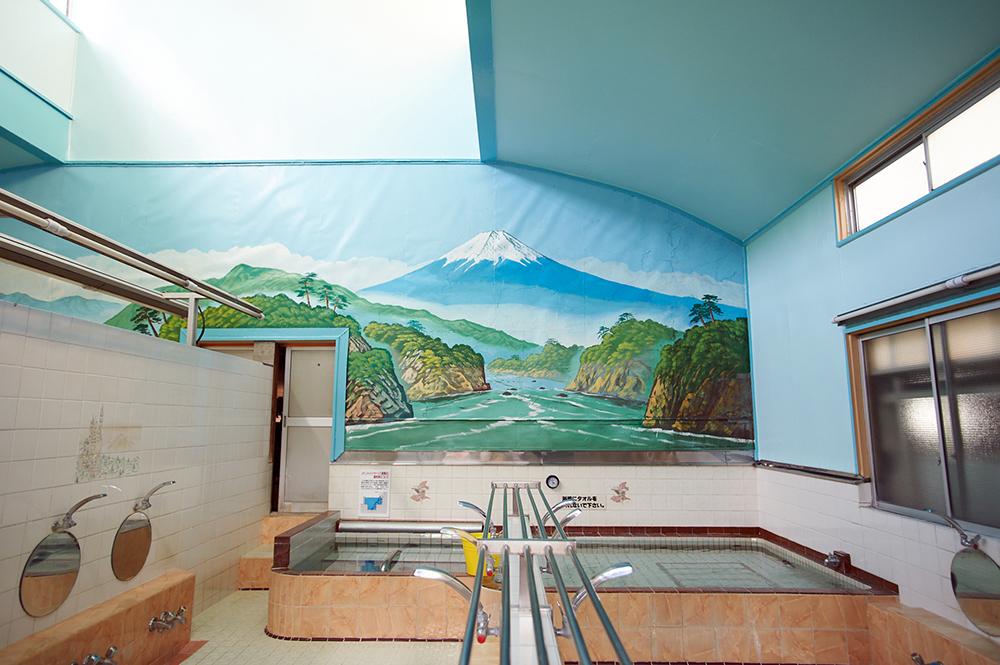 香藤湯の富士山絵
